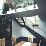 Treppenaufgang vom Wohnzimmer aus