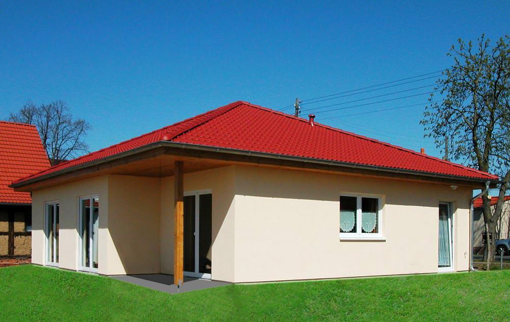 Bungalow Mit Rotem Dach Von Kosima Kosima Haus Hausbau