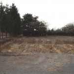 Unbebautes Gelände für ein Massivhaus