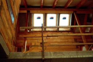 Dachstuhl Ansicht Holz Massivhaus