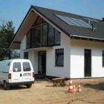 Massivhaus Außenansicht Satteldach