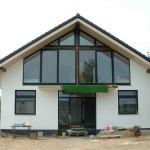 Frontansicht Satteldachhaus Massivhaus
