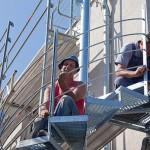 Außentreppe Bauarbeiten