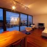 Wohnzimmer Kubus mit Ausblick Einfamilienhaus