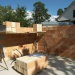 Mauerarbeiten an Kosima Massivhaus