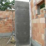 Betonplatte von Massivhaus Rohbau