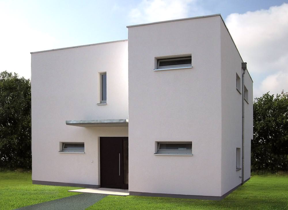 Modernes einfamilienhaus eingang kosima haus hausbau for Modernes haus hamburg