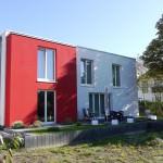 Massivhaus Architektenhaus bei Sonne