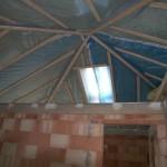 Bungalow Dachstuhl von unten