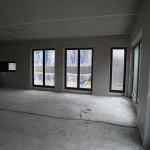 Rohbau innen Sichtbeton mit Fenstern