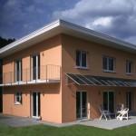 Solaranlage an Hauswand