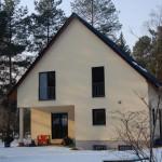 Wintergarten und Einfamilienhaus