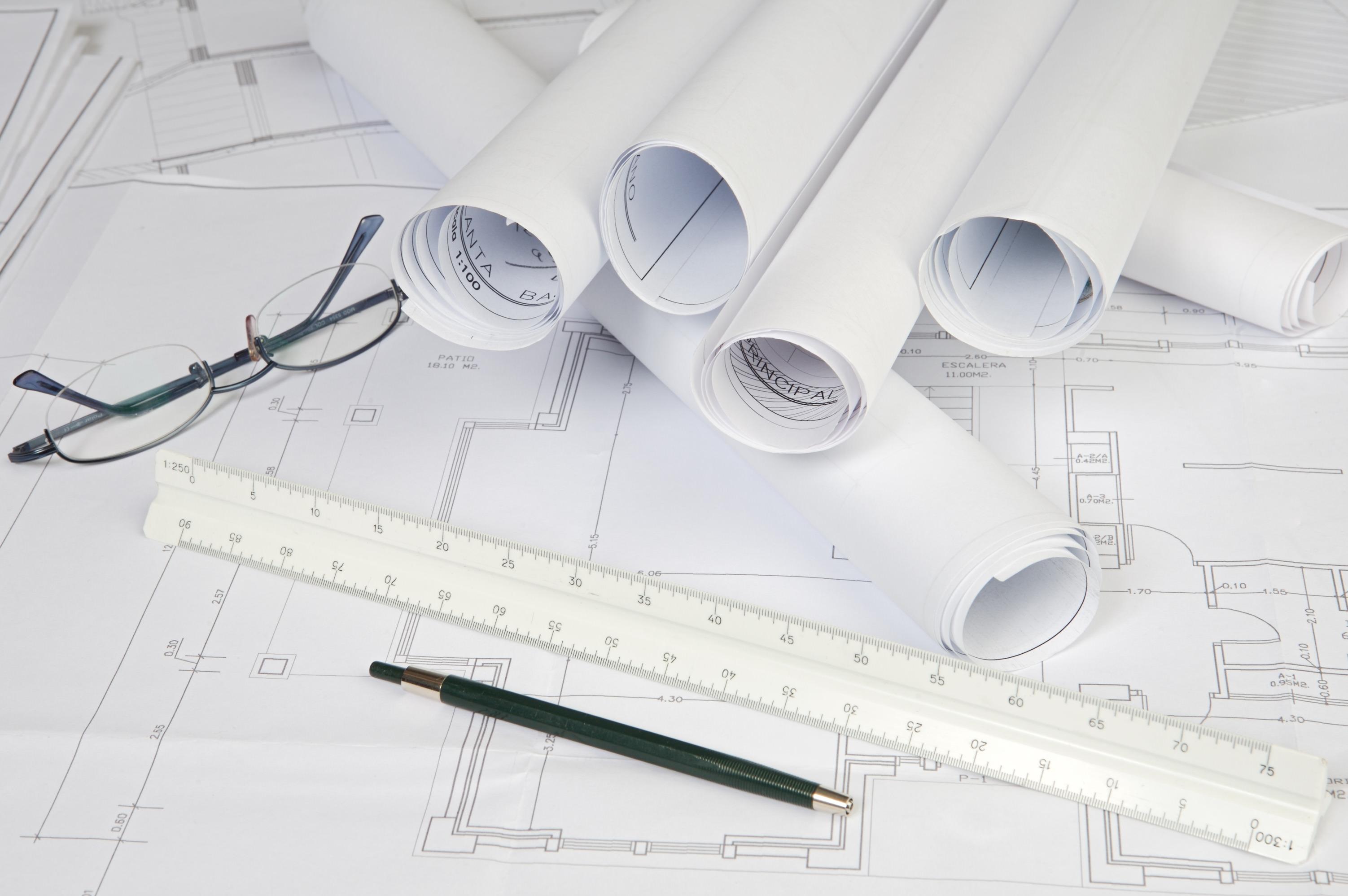 Entwürfe mit Grundrissen