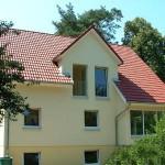 Satteldachhaus von der Seite