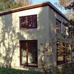 Graues Flachdach Haus