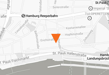 Karte Hamburg Büro