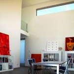 Wohnzimmer mit Kunst auf Leinwand