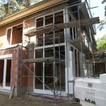 Fensterarbeiten mit Gerüst