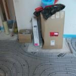 Fußbodenheizung offen