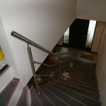 Treppen von oben in der Stadtvilla