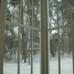Stadtvilla Fenster von innen